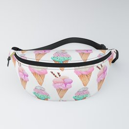 Ice cream, mint and pink yummy! Fanny Pack