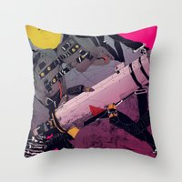 ghostbusters Throw Pillows featuring Ghostbusters 2 by boneface