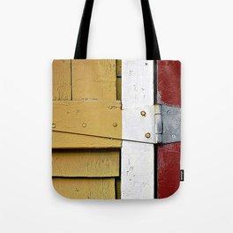 Isosceles Triangles on Wood Tote Bag