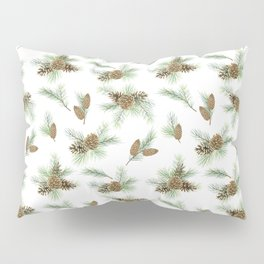 pine branches and cones pattern Pillow Sham