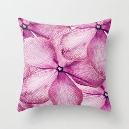 Big Pink Flowers Throw Pillow