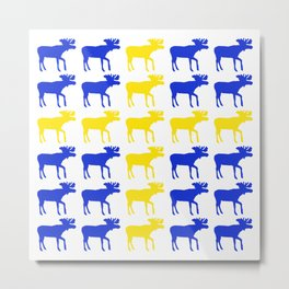 Graphic Swedish Moose Flag II Metal Print