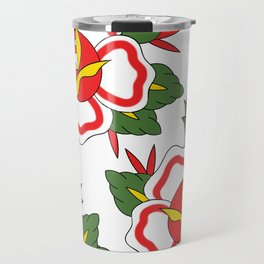 Traditional Rose Pattern Travel Mug