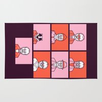 wes anderson Area & Throw Rugs featuring Bill x Wes by Spencer Frühling