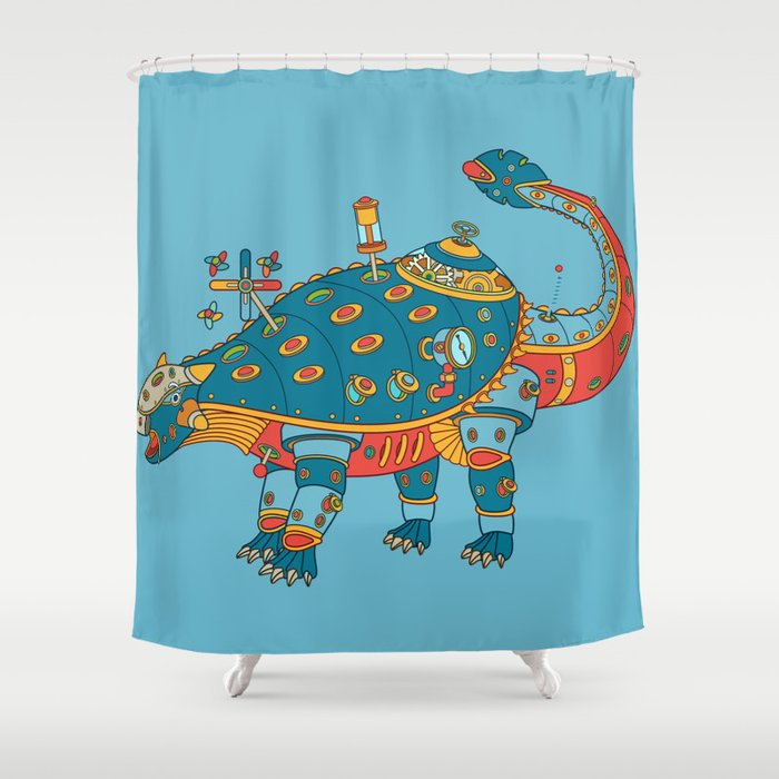 Dinosaur Cool Wall Art For Kids And Adults Alike Shower Curtain By