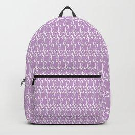Cute Script Letter Z Pattern Backpack