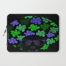 Afro Diva : Indigo Blue & Green Laptop Sleeve