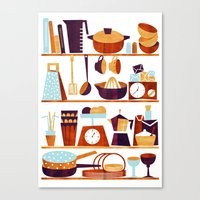kitchen Canvas Prints featuring Kitchen by Kata