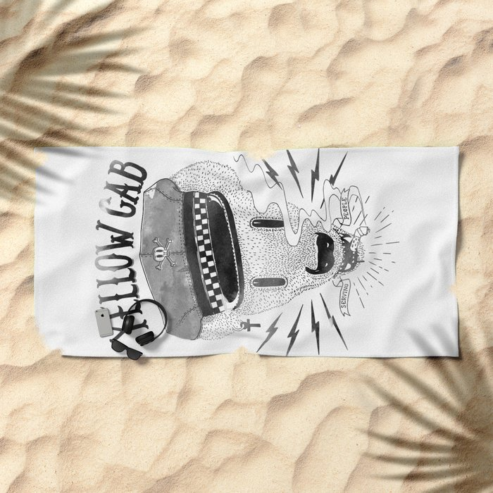 Bad Taxi Driver Beach Towel