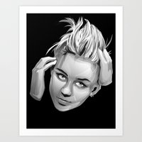 miley cyrus Art Prints featuring Miley Cyrus by anomaly alice