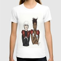 basquiat T-shirts featuring Warhol Basquiat by Mackenzie Art