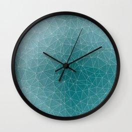 Triangular Cool Blues Wall Clock