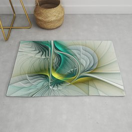 Fractal Evolution, Abstract Art Graphic Rug