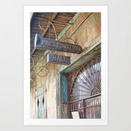 New Orleans Jazz Club Art Print