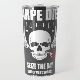 Vintage Carpe Diem Seize the day Travel Mug