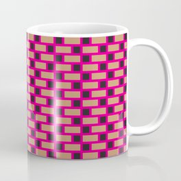 Brick (Pink, Brown, and Black) Coffee Mug