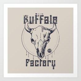 BUFFALO FACTORY  Vintage Skull Art Print
