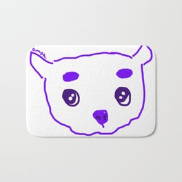 purple puppy Bath Mat