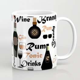 Abstract holiday gift pattern for men . Bar Coffee Mug