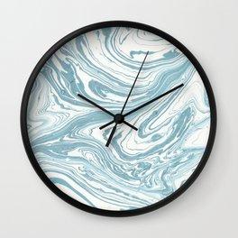 Malibu Blue Marble Retro Print Wall Clock