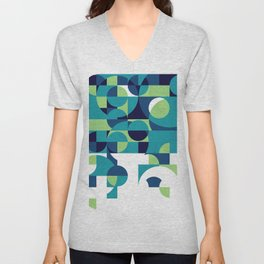 RainyDay Pattern Unisex V-Neck