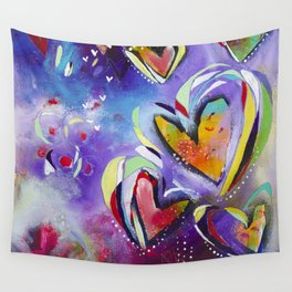 Hearts Wall Tapestry