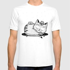Scat or Die SMALL Mens Fitted Tee White