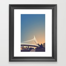 Calatrava Bridge Jerusalem Framed Art Print