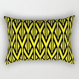 triangles line stripes geometry - yellow Rectangular Pillow