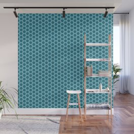 Abstract Turquoise Pattern 4 Wall Mural