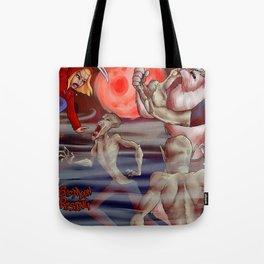 Bad Moon Rising-Blood Moon Tote Bag