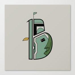 B is for Boba Fett Canvas Print