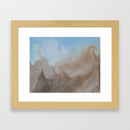 Mountain views Framed Art Print