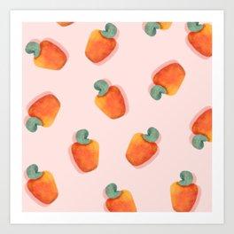 Caju | Brazilian tropical fruit | Cashew Apple Art Print