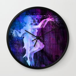 Alice Dancing Darkly (edit5) Wall Clock