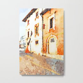 L'Aquila: buildings damaged by the earthquake Metal Print