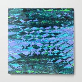 Blue-green ocean abstract Metal Print