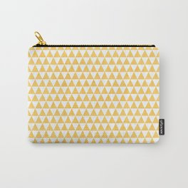 triangles - yellow and white Carry-All Pouch