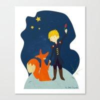 le petit prince Canvas Prints featuring Le petit prince by LaFilleCoquette