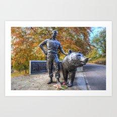 Wojtek The Soldier Bear Memorial Edinburgh Art Print