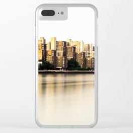 Roosevelt Island skyline Clear iPhone Case