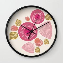 Vintage Floral Light Wall Clock