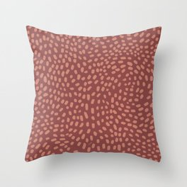 Christmas Season Pattern In Red Throw Pillow