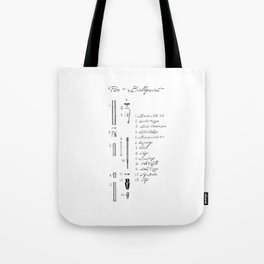 Dissected Pen Tote Bag
