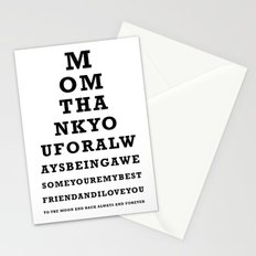Mothers Day - Mom - Eye Test - Love you to the moon and back Stationery Cards
