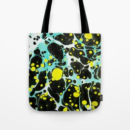 Space Blue Marbling Tote Bag