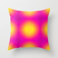 70s Throw Pillows featuring Flashy 70s,pink by MehrFarbeimLeben