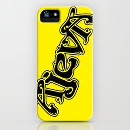 Ajeva Logo 2 Yellow iPhone Case