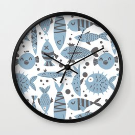 All kinds of fishes Wall Clock