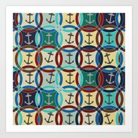 anchors Art Prints featuring anchors by Sharon Turner